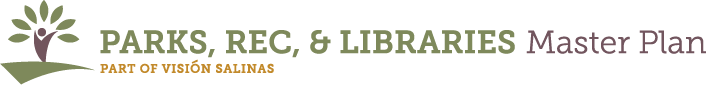 Park, Rec and Libraries Master Plan Logo (green and yellow)